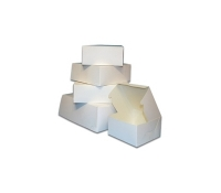 "6-1/2""L x 6-1/2""W x 3""H White Boxes 200/case 
