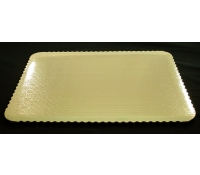 Gold Laminated Rectangular SW Cake Pad | SupplyVillage.com