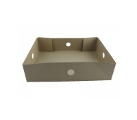 Brown #2 Donut Trays (Medium) w/ holes 250 pcs | Supplyvillage.com