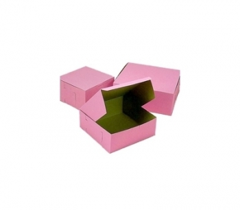 "8""L x 8""W x 4""H Pink Boxes 200/case 