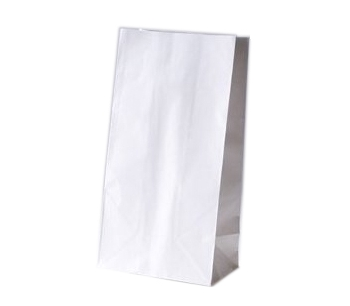 #6 White Paper Bags 500/bndl | Supplyvillage.com