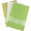 4 oz (110 gr) Rice Paper Stand Up Zip Pouch w/ Window - White Color | SupplyVillage.com