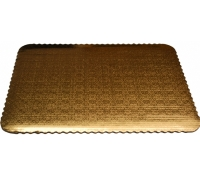 Silver Rectangular Cake Pad Wrap Arounds 100/CS  | SupplyVillage.com