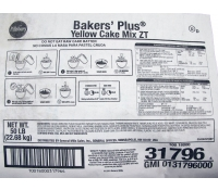 Pillsbury Bakers' Plus® Yellow Cake Mix ZT 50 lb Bag | SupplyVillage.com
