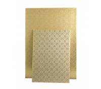 Gold Rectangular Cake Pad Wrap Arounds 100/CS  | SupplyVillage.com