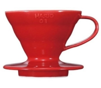 Hario Coffee Dripper V60 01 Ceramic Red
