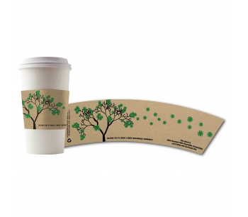 Hot Cup Insulating Sleeves - Eco Tree Design - 500ct.