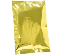 4oz Plain Metallized Flat Pouches - Silver