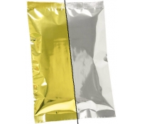 8oz Plain Metallized Flat Pouches - Gold/Silver