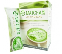aiya matcha zen cafe blend premix single-serve packets, matcha blend, sweetened matcha