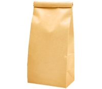 5 lb (2.2kg) Tin Tie Paper Bags with PLA Liner - Natural Kraft