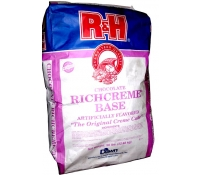 R&H Chocolate RichCreme Cake Base - 50 lb Bag