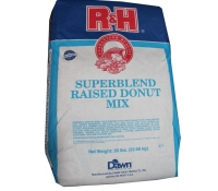 R&H Superblend Raised Donut Mix - 50 lb Bag
