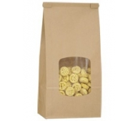 1 lb (450g) Tin Tie Paper Bags with PLA Liner - Natural Kraft