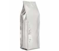 10 lb. Quad-Seal Foil Gusseted Bags with Zipper - Silver