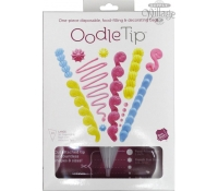 OodleTip Pastry bags 16 inch decorative attached tips