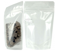 12oz Clear Poly Stand-Up Zip Pouches
