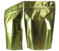 12 oz Stand-Up Zip Pouches, Gold Foil, Without Valve